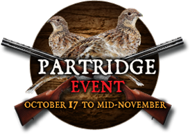 Partridge Event - October 17 to mid-november