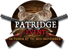 Patridge Event - October 17 to mid-november